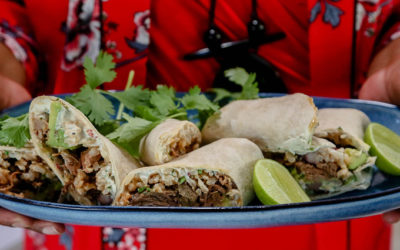 BRAISED BEEF BURRITOS WITH RICE & BEANS