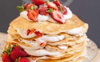 Eton Mess Pancake Stack