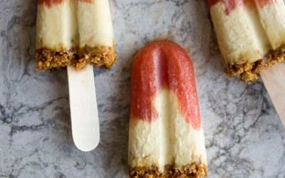 Nectarine, Maple & Yoghurt Popsicles