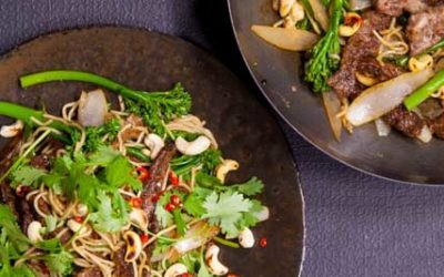 Beef, Cashew and Broccoli Noodle Stir Fry