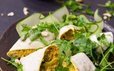 Coronation Chicken Wraps