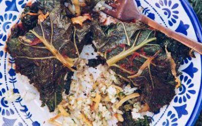 Leafy Rice Parcels