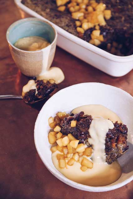 Nutty Baked Apple Pudding