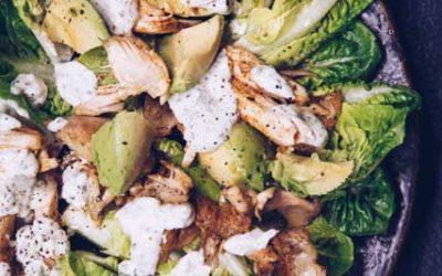 Paprika Chicken Salad with Yoghurt Dressing