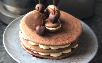 Black Forest Macaron Stack