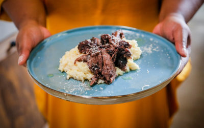 Braised Lamb with Creamy Rice