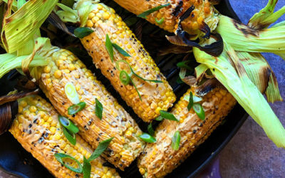 BBQ Cheese melt grilled corn