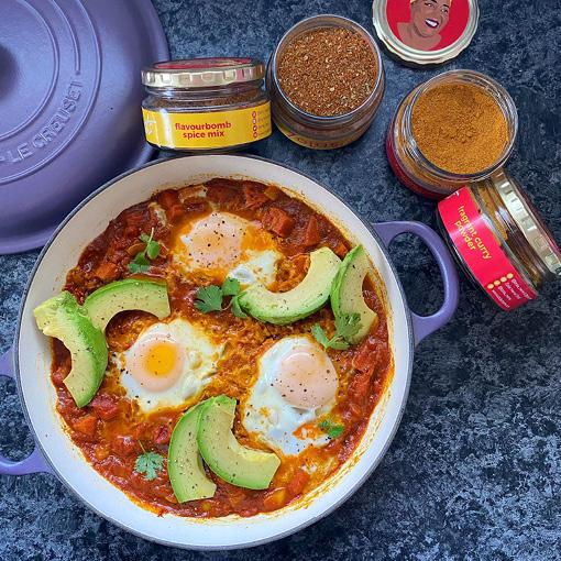 Spicy Eggs with Chorizo