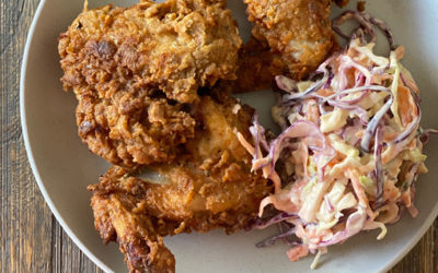Zola's Feasts Crispy Fried Chicken Wings & Coleslaw